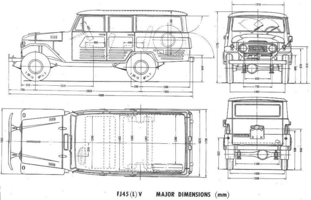 Toyota Land Cruiser FJ45V (1964) | SMCars.Net - Car Blueprints Forum ...