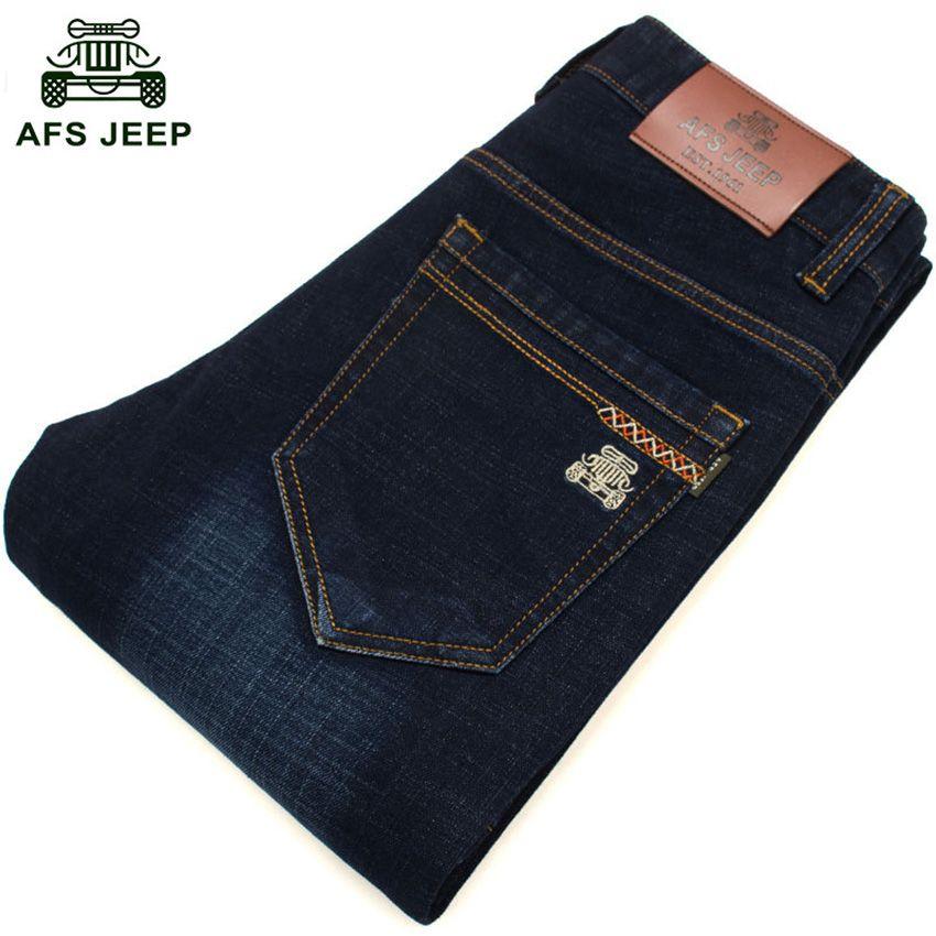 Aliexpress Com Comprar Afs Jeep Marca Cuatro Estaciones Pantalones Vaqueros De Los Hombres Pantalones Rectos Delgado Y Comodo De Los Hombres De Moda Para Dzhinsy