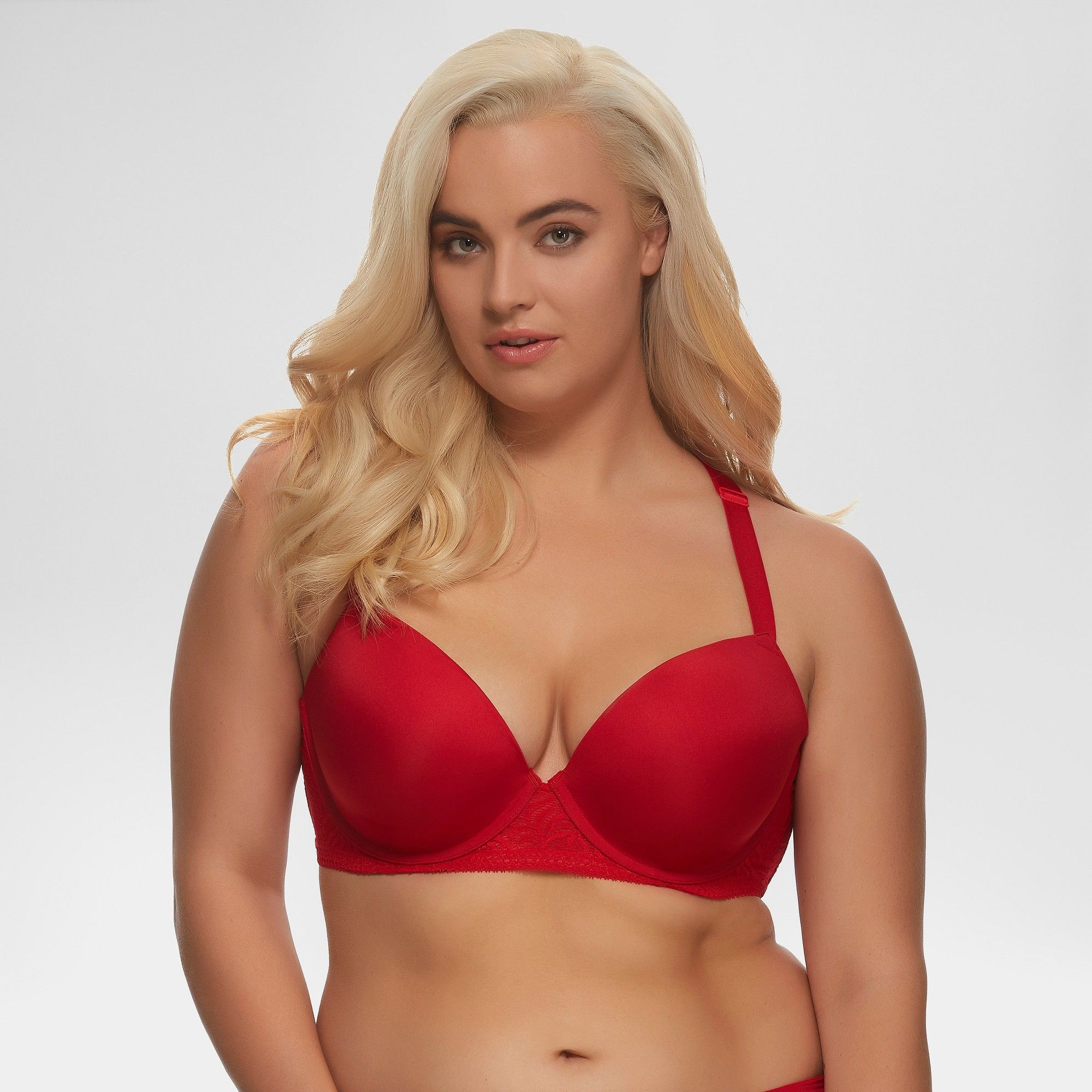 307e6bb8878 Paramour Women s Carolina T-Back Bra - Tango Red 34DD