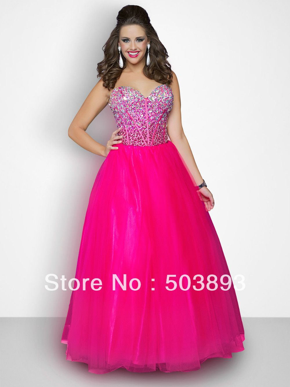 Sexy Girls In Prom Dresses Shipping Hot Pink Plus Size Prom