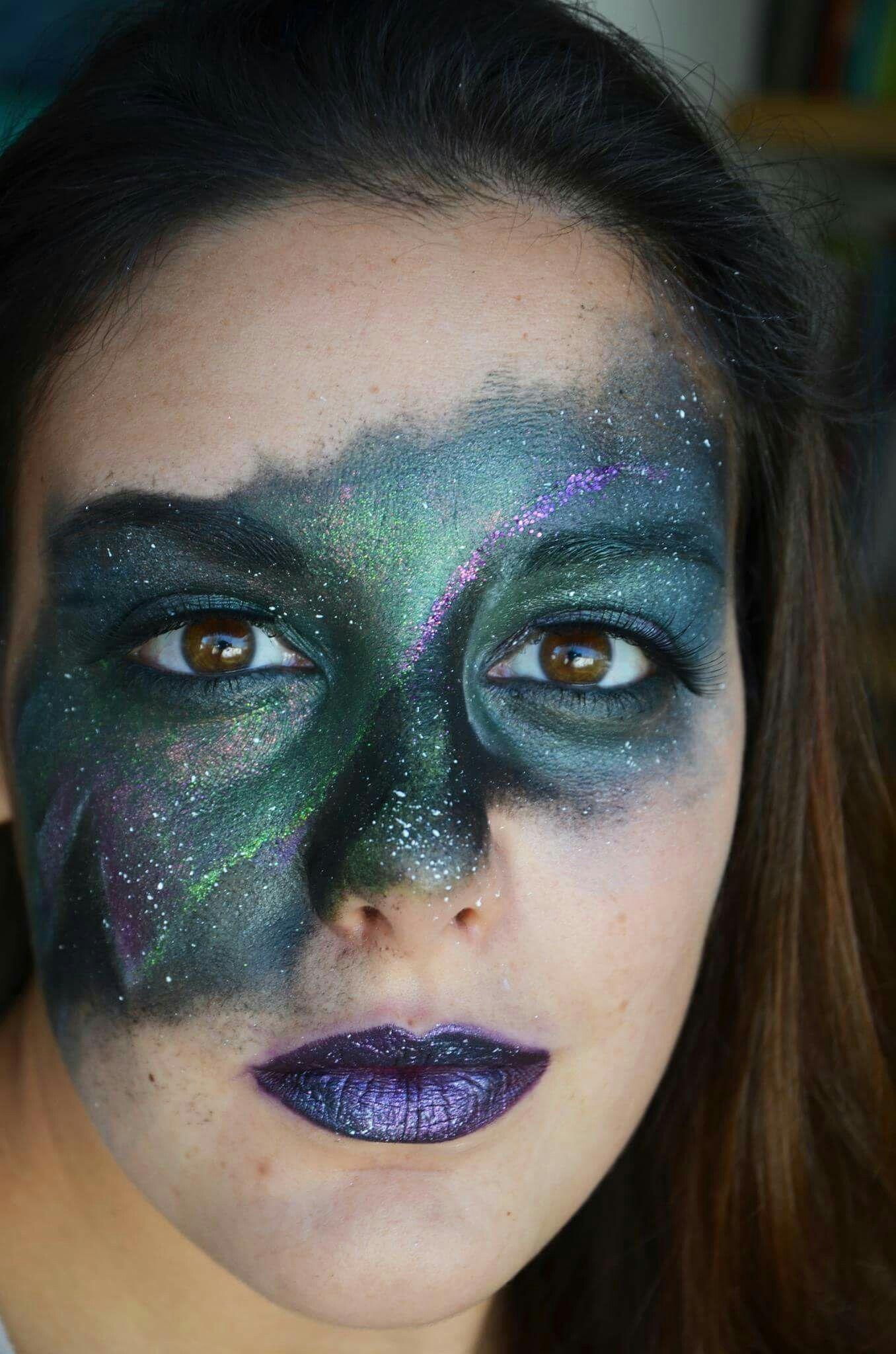 Northern Lights inspired makeup...