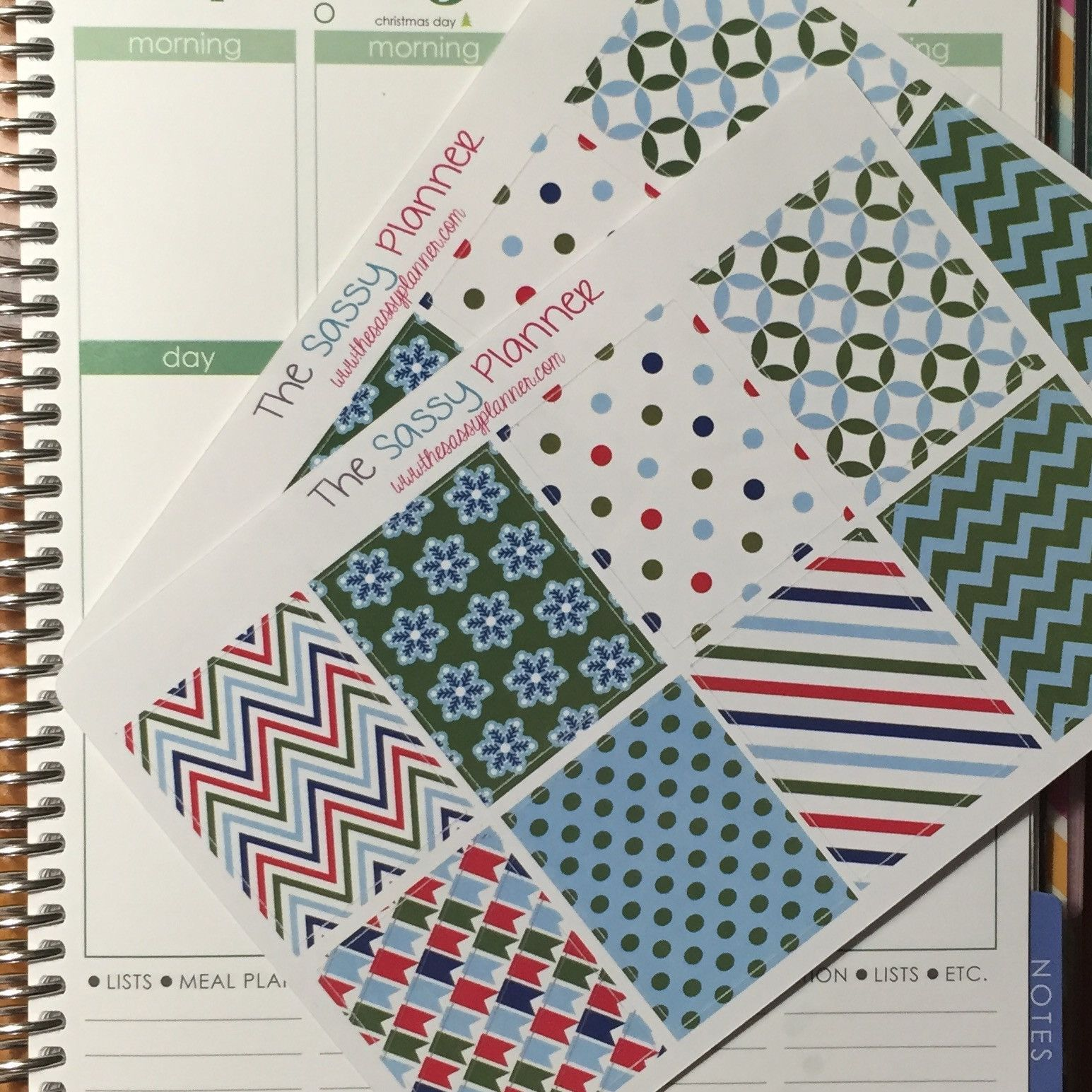 NEW! December Monthly Full Box Stickers for Erin Condren Life Planner/Plum Paper Planner - Set of 16