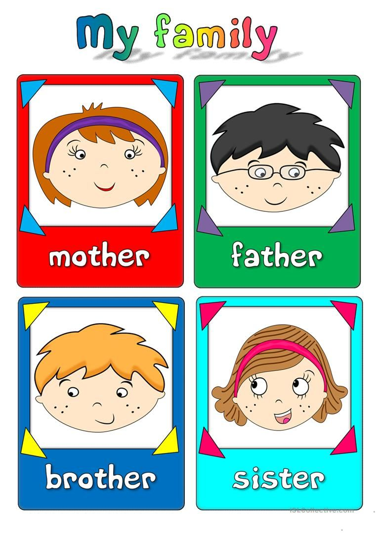 My family - flashcards worksheet - Free ESL printable worksheets ...