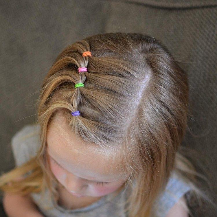Frisuren Fur Kleine Madchen Bunte Haargummis Kinderfrisur Ideas Hairstyle Frisuren Fur Kleine Madchen Frisur Kleinkind Kinderfrisuren
