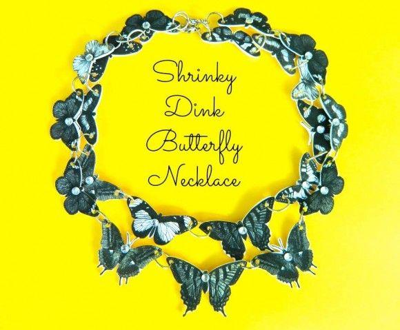 shrinky dink butterfly necklace