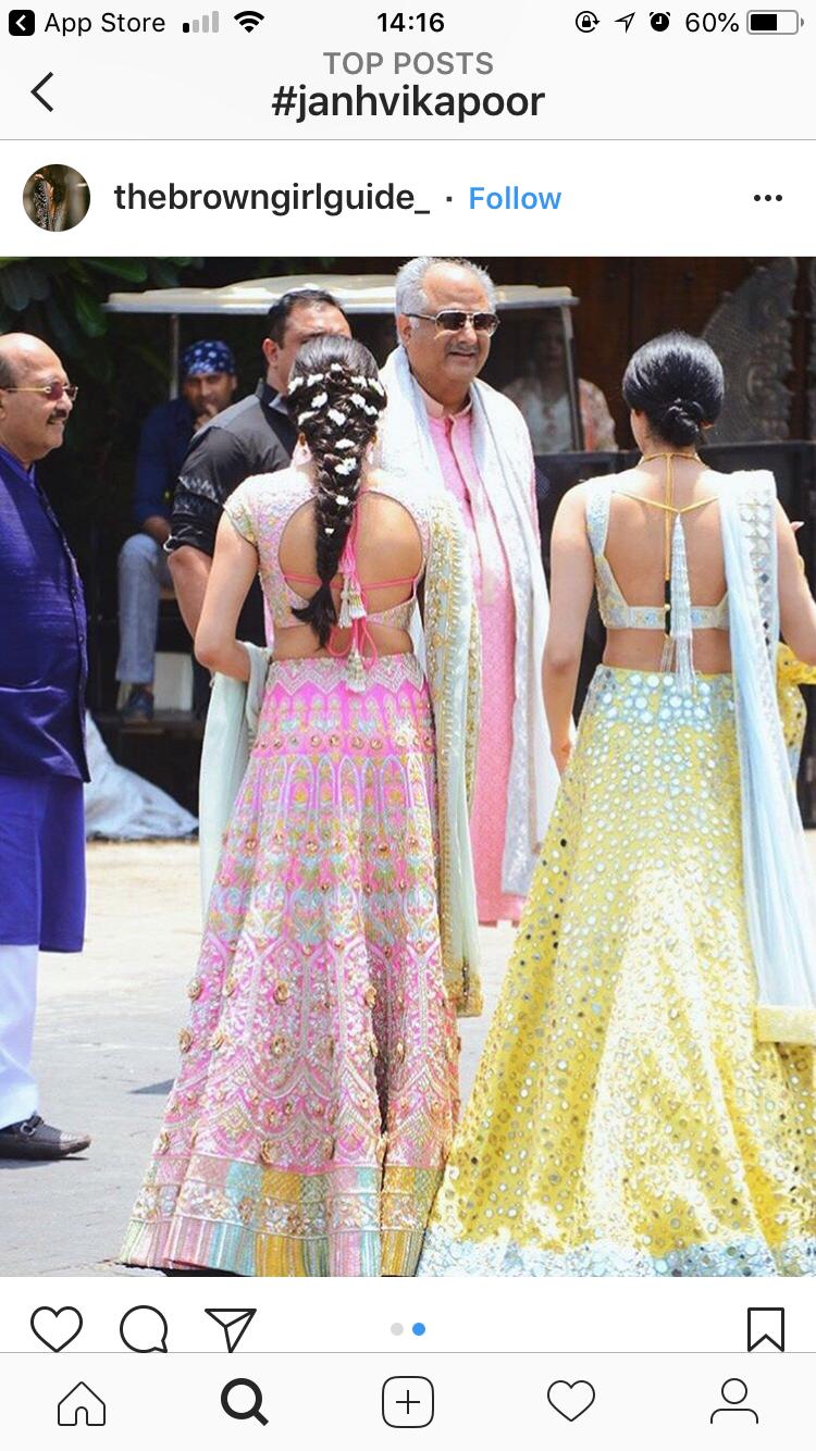Janvi Kapoor Khushi Kapoor Hairstyle Sonam Kapoor Wedding Designer Dresses Indian Indian Designer Outfits Indian Wedding Outfits