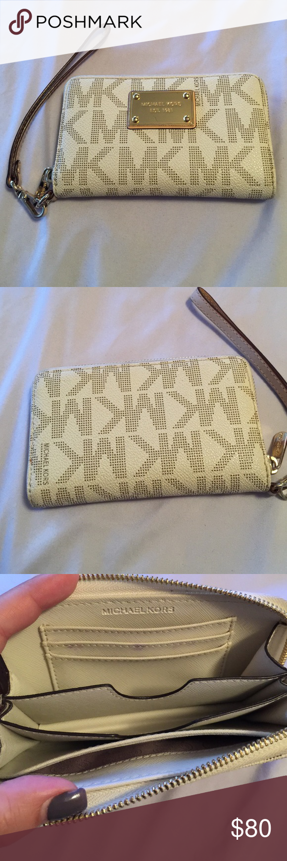 Michael Kors Wristlet Wallet Good condition! normal wear! Michael Kors Bags Wallets