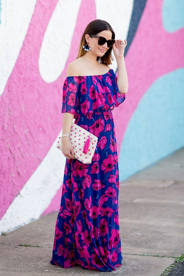 8ee28b093ee7 Floral Off the Shoulder Maxi Dress