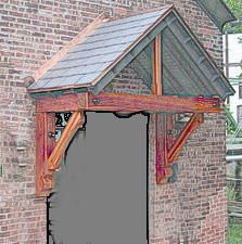 Temporary porch gable supports until we get a new porch!
