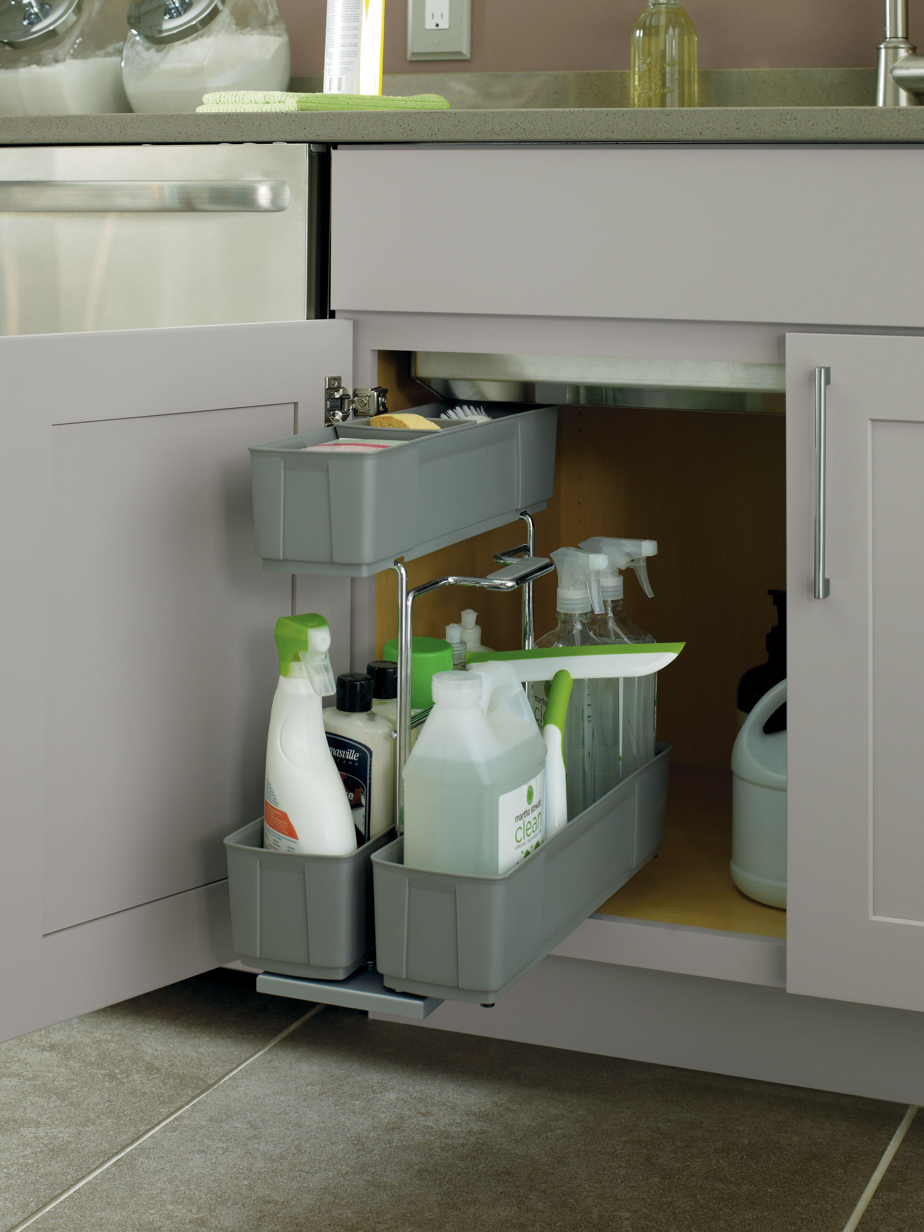 Under Sink Storage Ideas Prescottkitchens Www Prescottkitchens Com Kitchen Cabinets In Bathroom Kitchen Organization Kitchen Cabinet Organization
