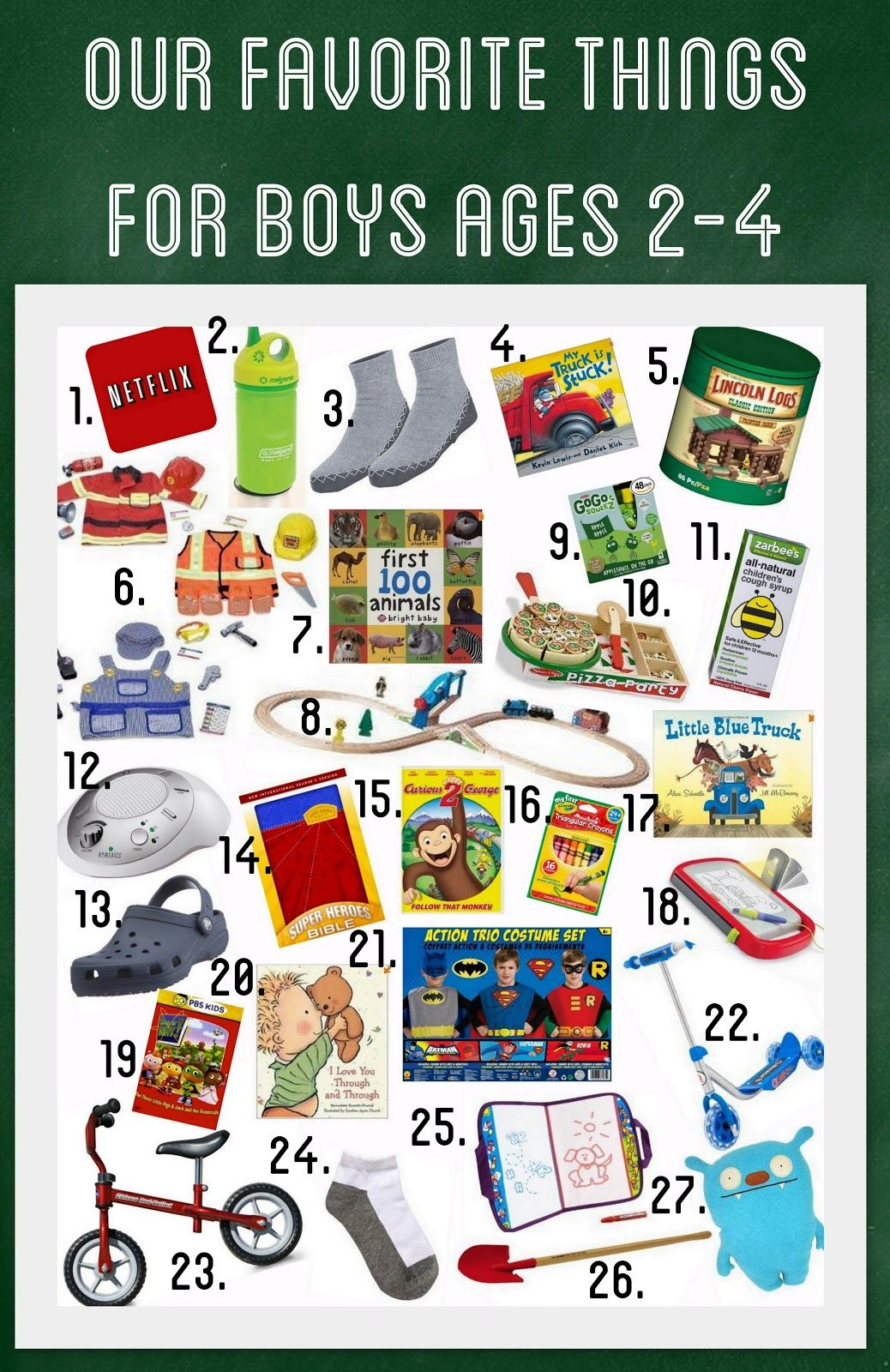 Our Favorite Things for Boys Ages 24 Christmas Gift Ideas