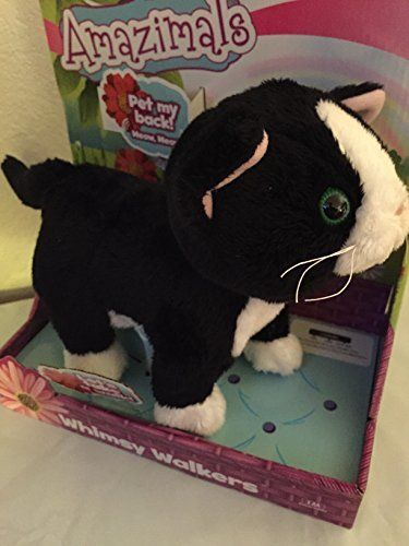 ** Cat Toys Ideas ** Amazimals Plush Whimsy Walkers Talking Electronic Black White Kitty Cat Kitten >>> To view further for this sponsored item, visit the image link.