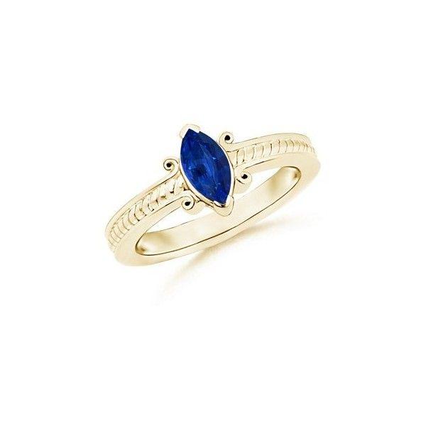 Angara Marquise Sapphire Ring in Platinum uQpaMo5x
