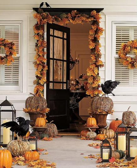 Boxwood Clippings 2011 August Fall Halloween Decor Fall Decorations Porch Autumn Decorating