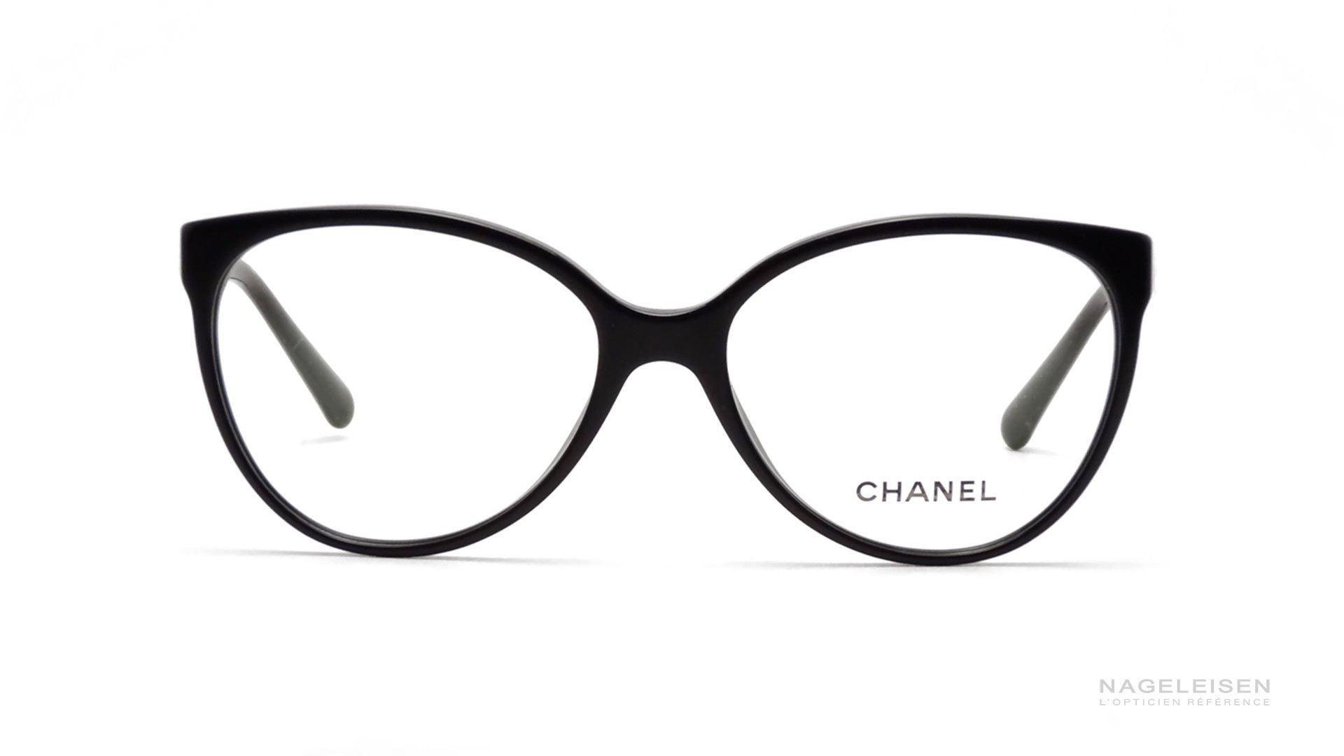 ae61d37b802d6 Les Lunettes de Vue Chanel Signature CH 3312 Noir CH3312 1503 55-16 ...
