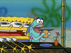 Fine Dining And Breathing Spongebob