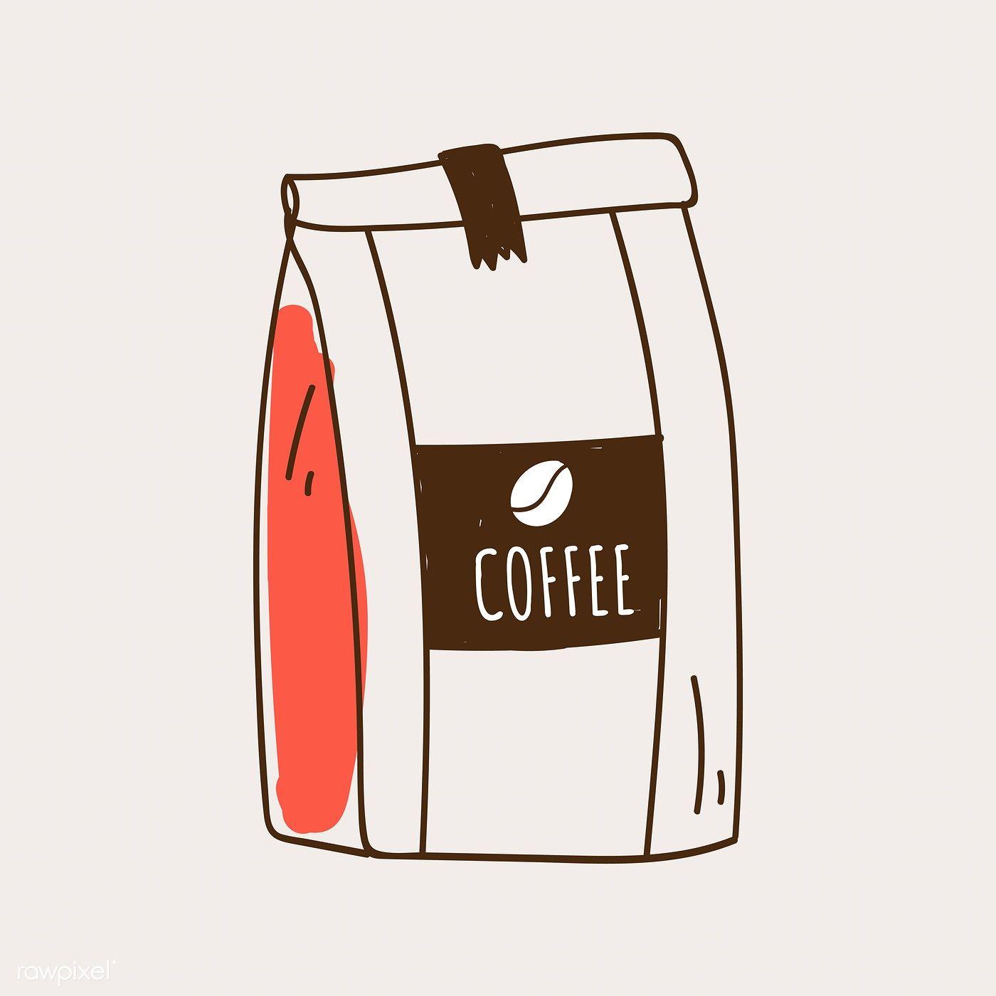 coffee bean vector drawing