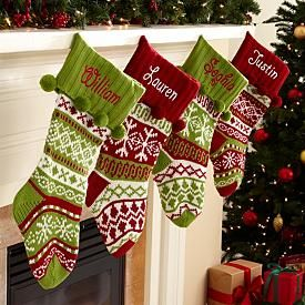 Old-Fashioned Knitted Christmas Stocking - Personalized ...
