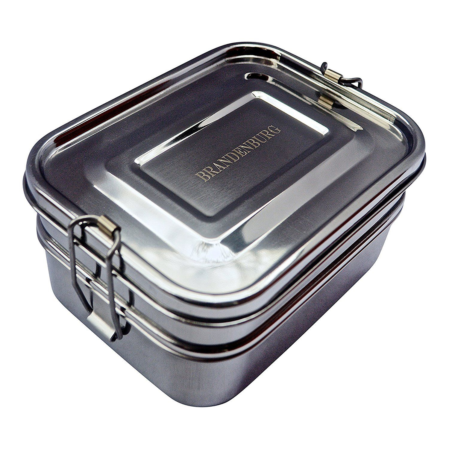 Amazon Com Brandenburg Classic Stainless Steel Bento Box Eco Friendly Lunch Box 3 In 1 F Stainless Steel Bento Box Stainless Steel Lunch Box Steel Lunch Box