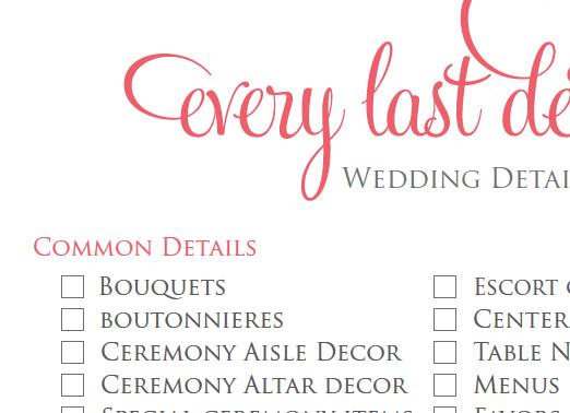 Wedding planning checklist | Events ~ Weddings | Pinterest ...
