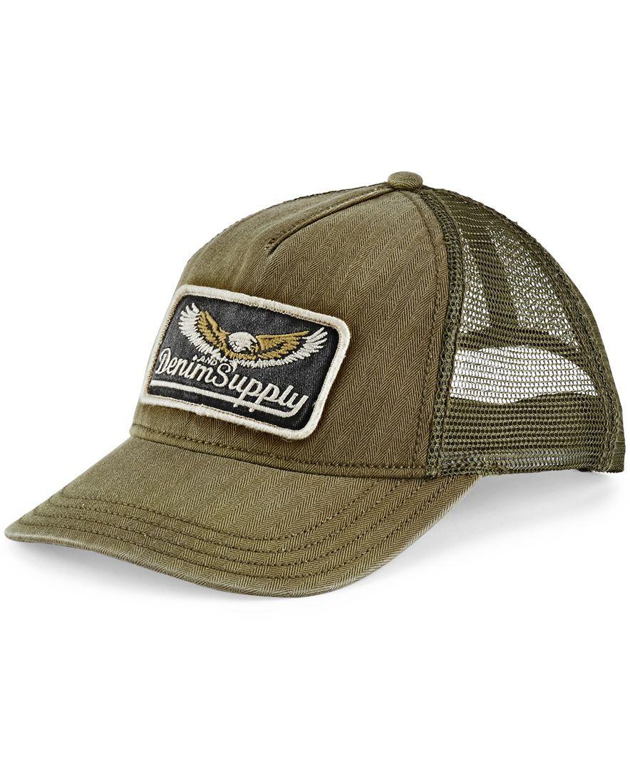 46875ec268c2c Denim   Supply Ralph Lauren Herringbone Trucker Hat