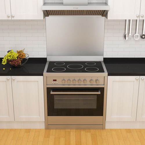 Ancona 36 In Stainless Steel Electric Range With Vitro Ceramic Cooktop