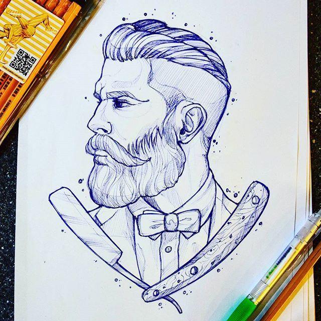 Instagram Photo By Toumaniantzlesya Tequila May 12 2016 At 4 20am Utc Tatuagem De Barbeiro Ideias Para Barbearias Ilustracoes