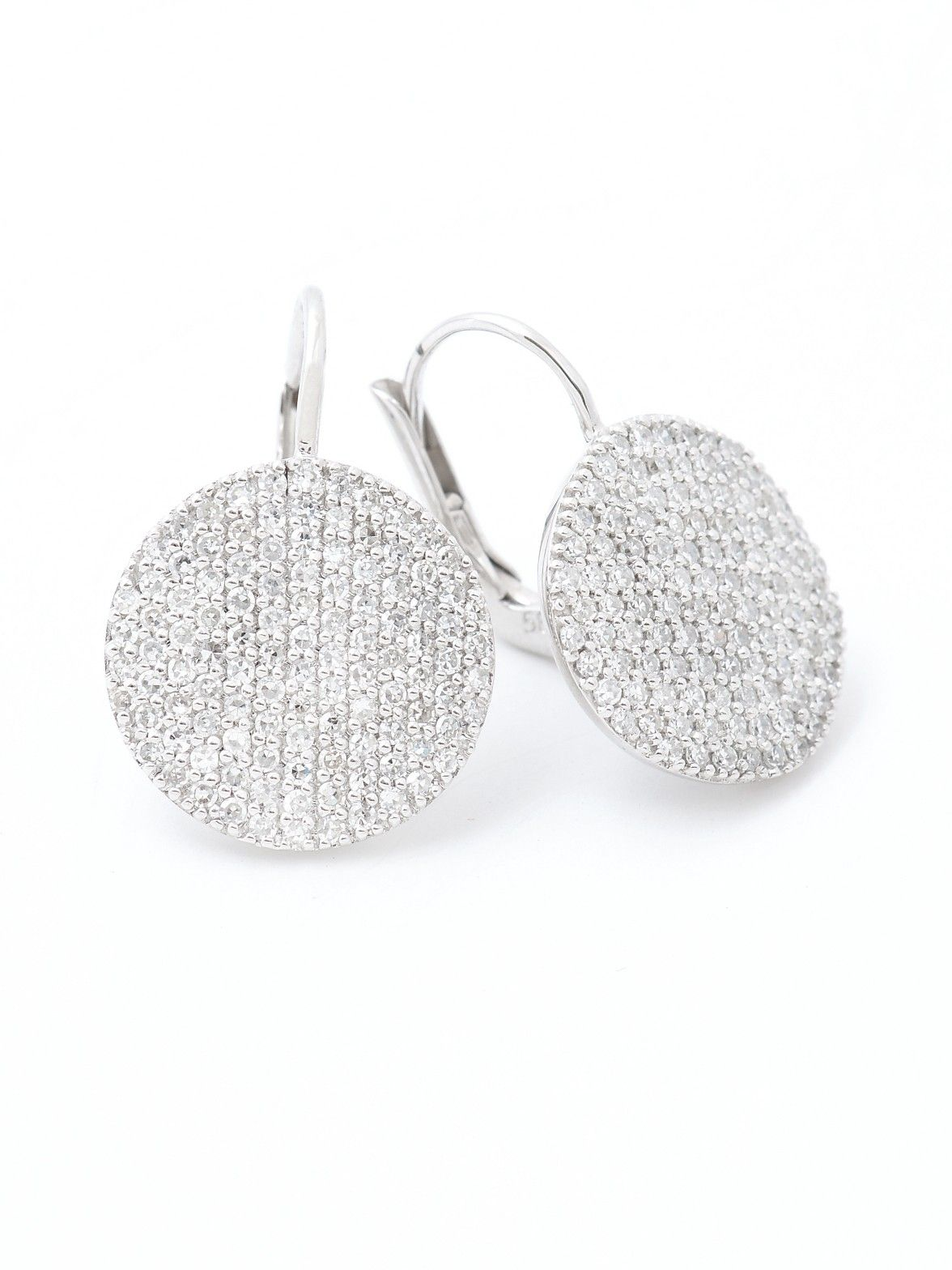 Phillips House 14k Pave Diamond Disc Earrings At London Jewelers