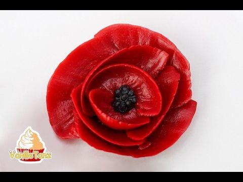 How to make poppy flowers with buttercream frosting the bearfoot how to make poppy flowers with buttercream frosting the bearfoot baker youtube mightylinksfo