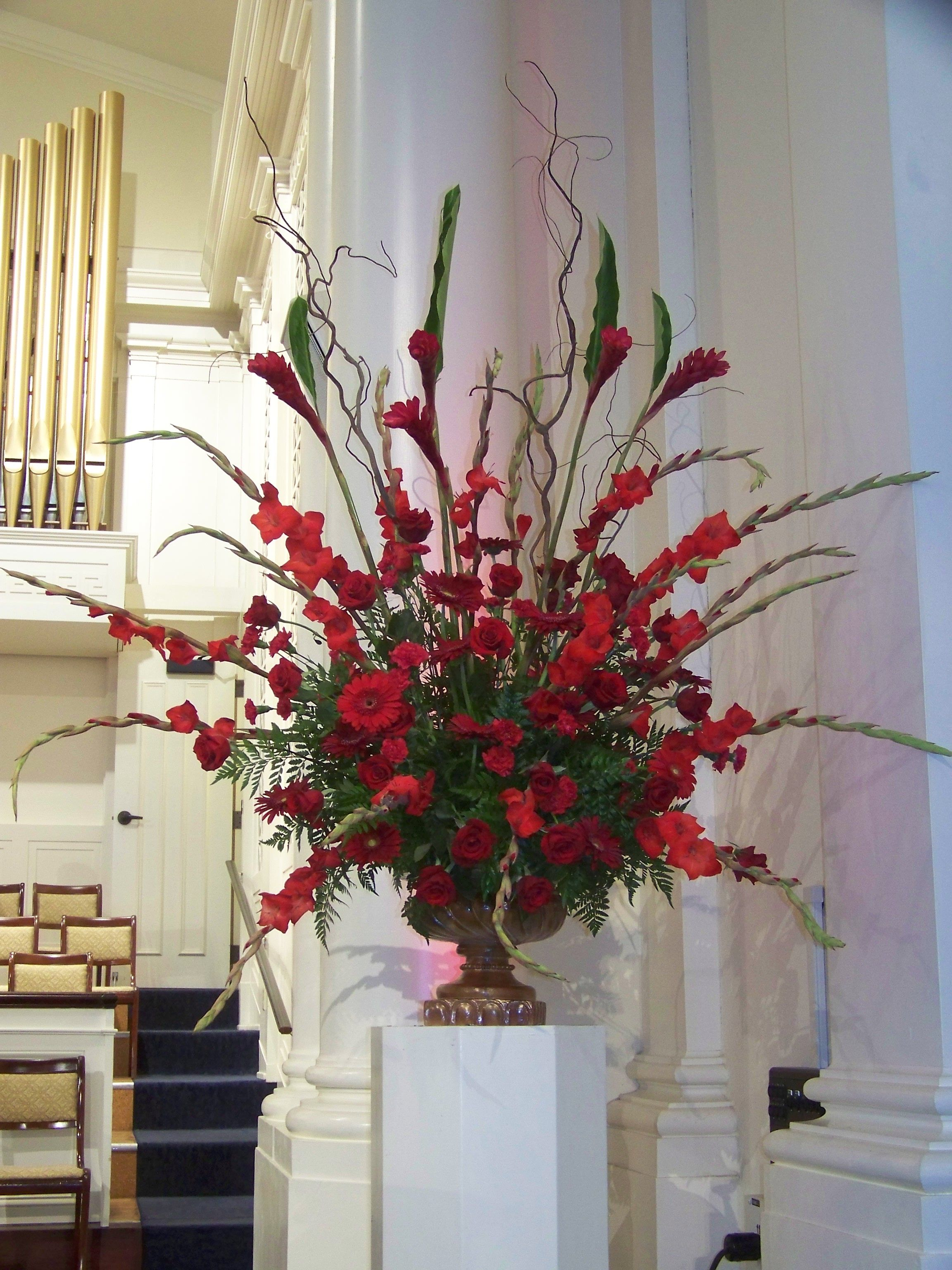 Pentecost What We Do Red Flower Arrangements Floral