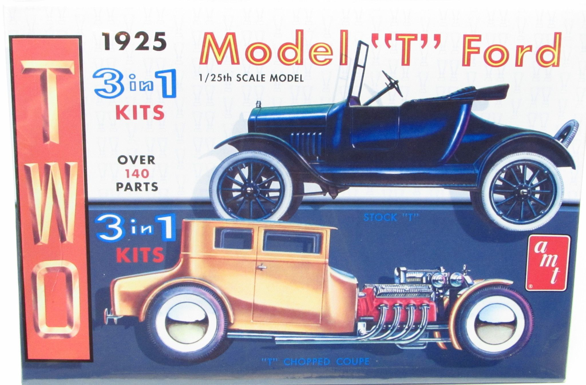 1925 Model T Ford 1 25 Scale Amt 626 New Model Kit 2 Complete Models In 1 Kit Model Cars Building Model Kit Model T