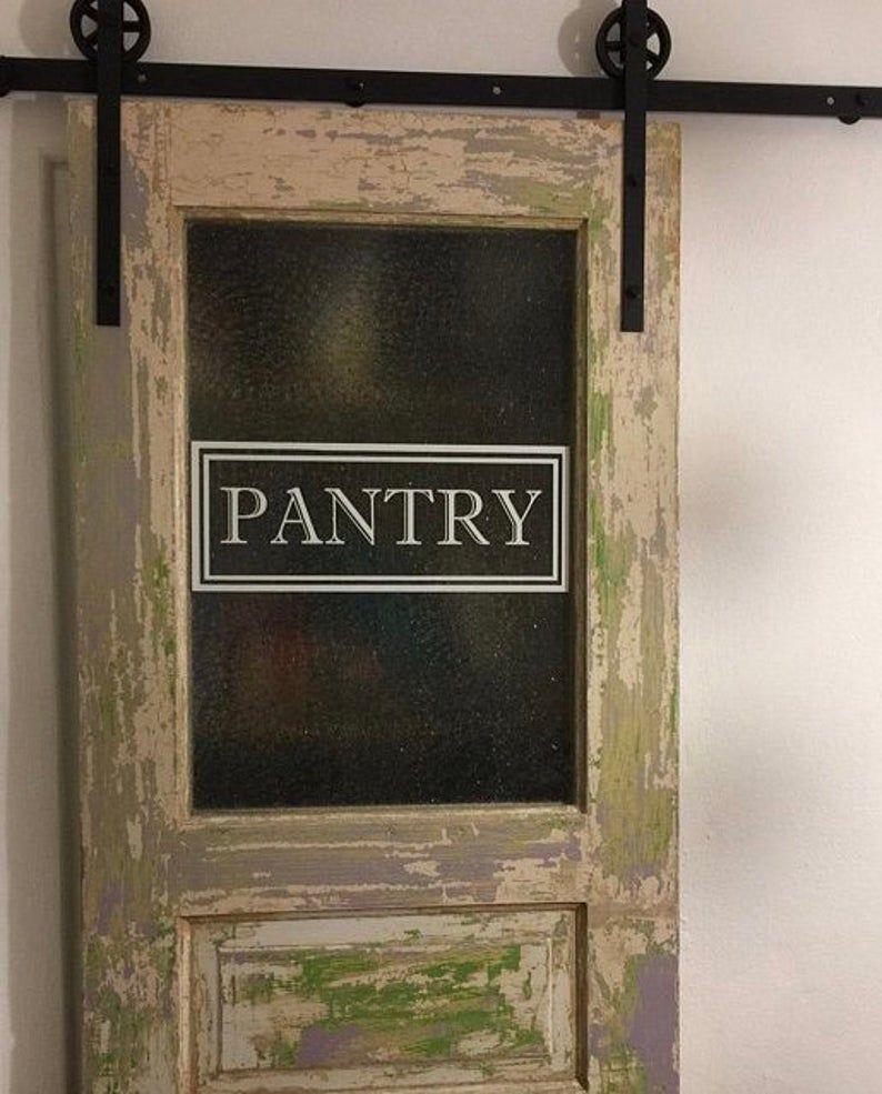 Pantry Door Decal Vinyl Sticker for Glass Pantry Door