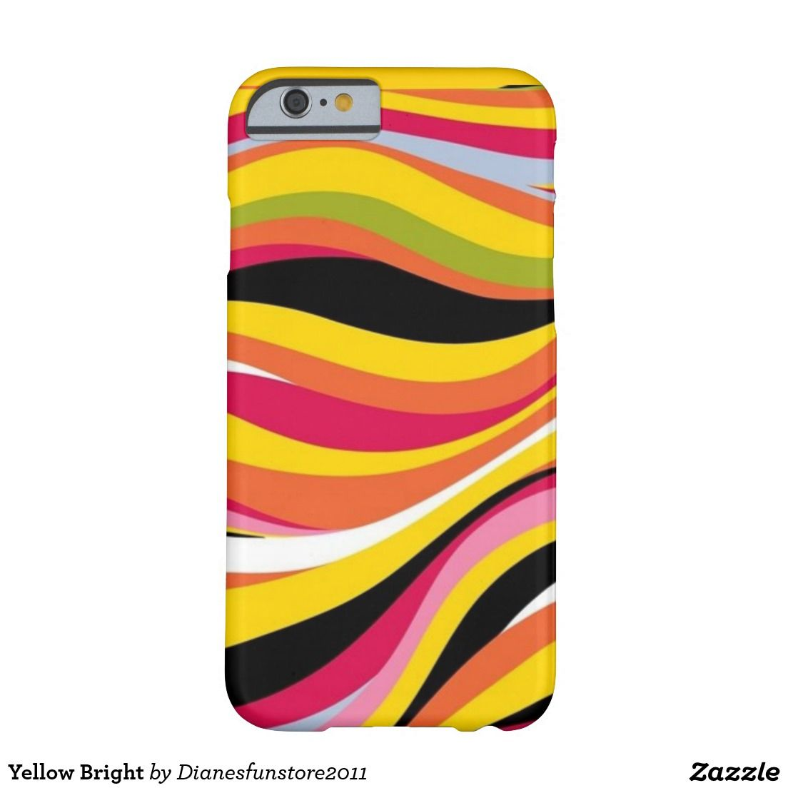 Yellow Bright Barely There iPhone 6 Case