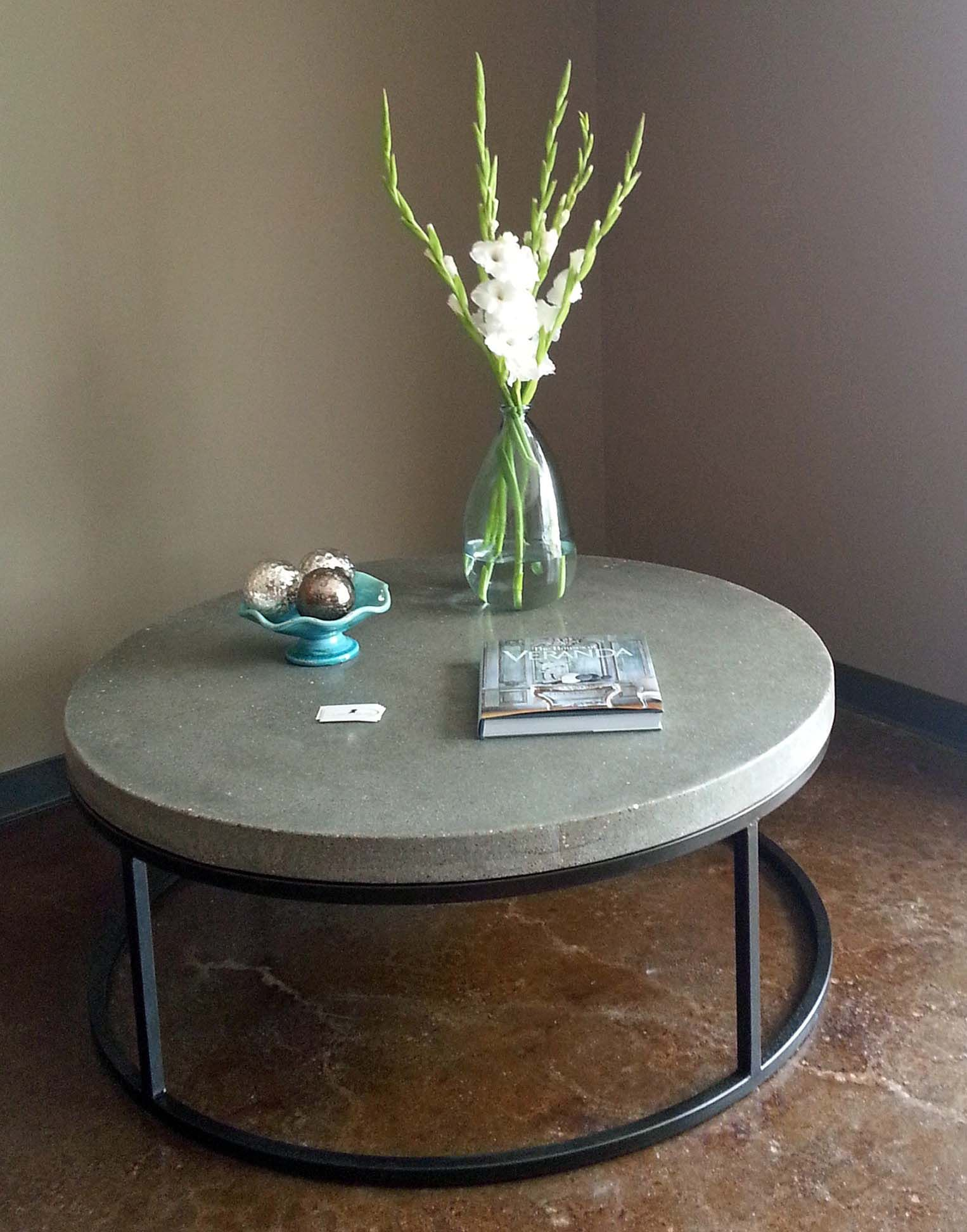 Large 48 Round Coffee Table In Charcoal Customize Your Piece In