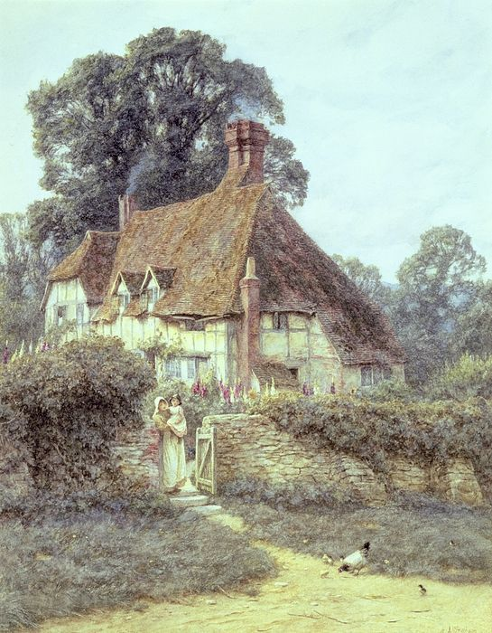 """Near Witley Surrey"" by Helen Allingham"