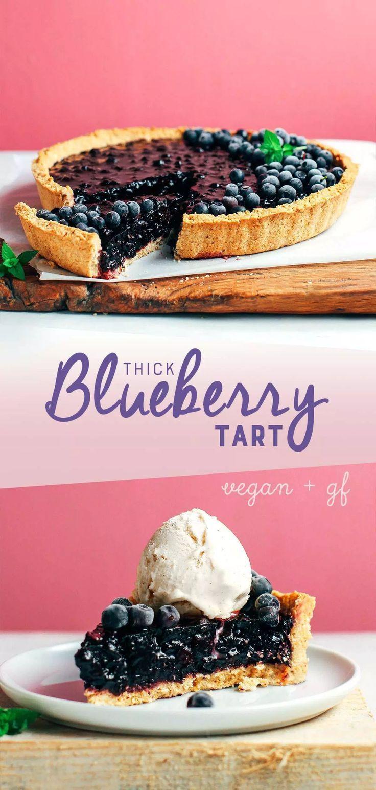 Vegan Blueberry Tart Blueberry tart, Vegan tarts