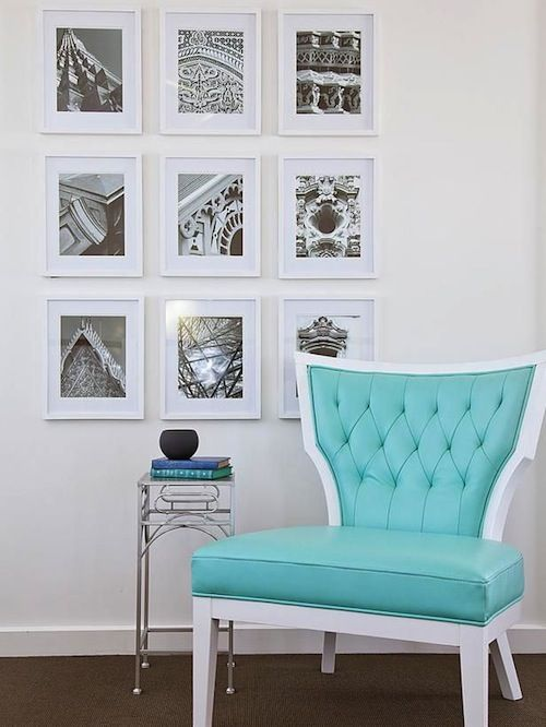 Tiffany Blue Accent Chair Zef Jam