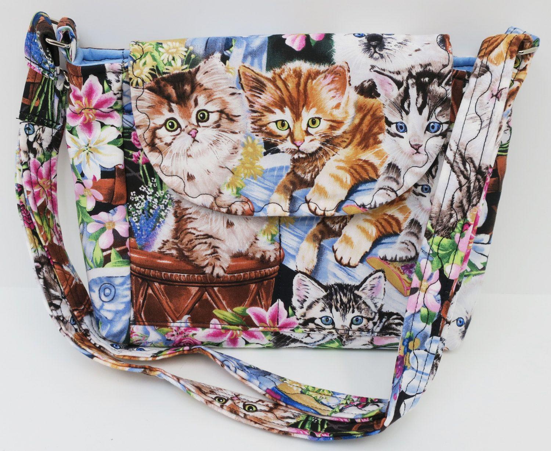 Multi Cat Purse Handmade Handbag Cross Body Purse Multi Kitten Handbag Gray Bag Slim Handbag Purse Tote Bag Kindl Cat Purse Kindle Bag Handmade Handbags