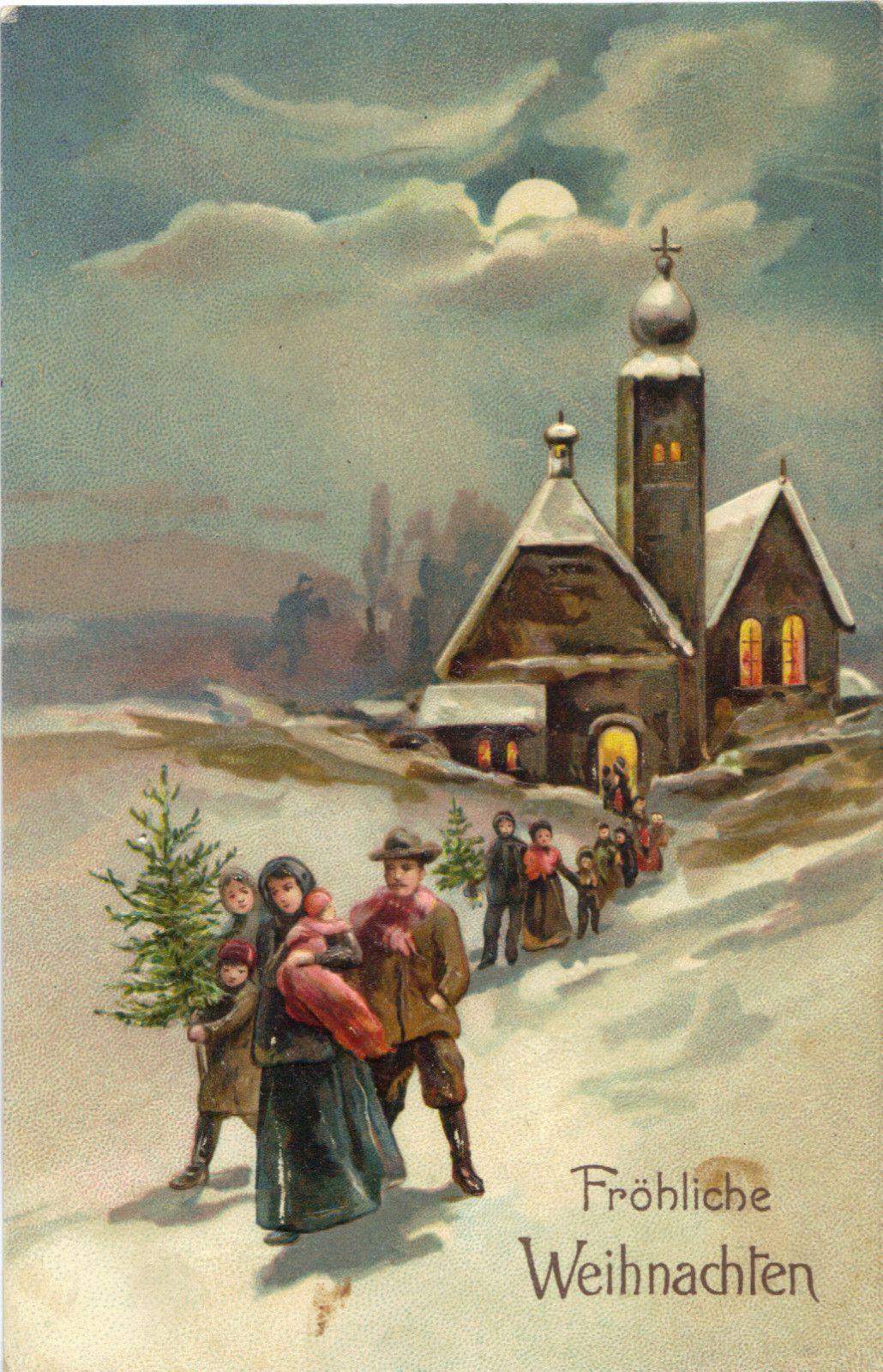немецкие новогодние открытки кладка