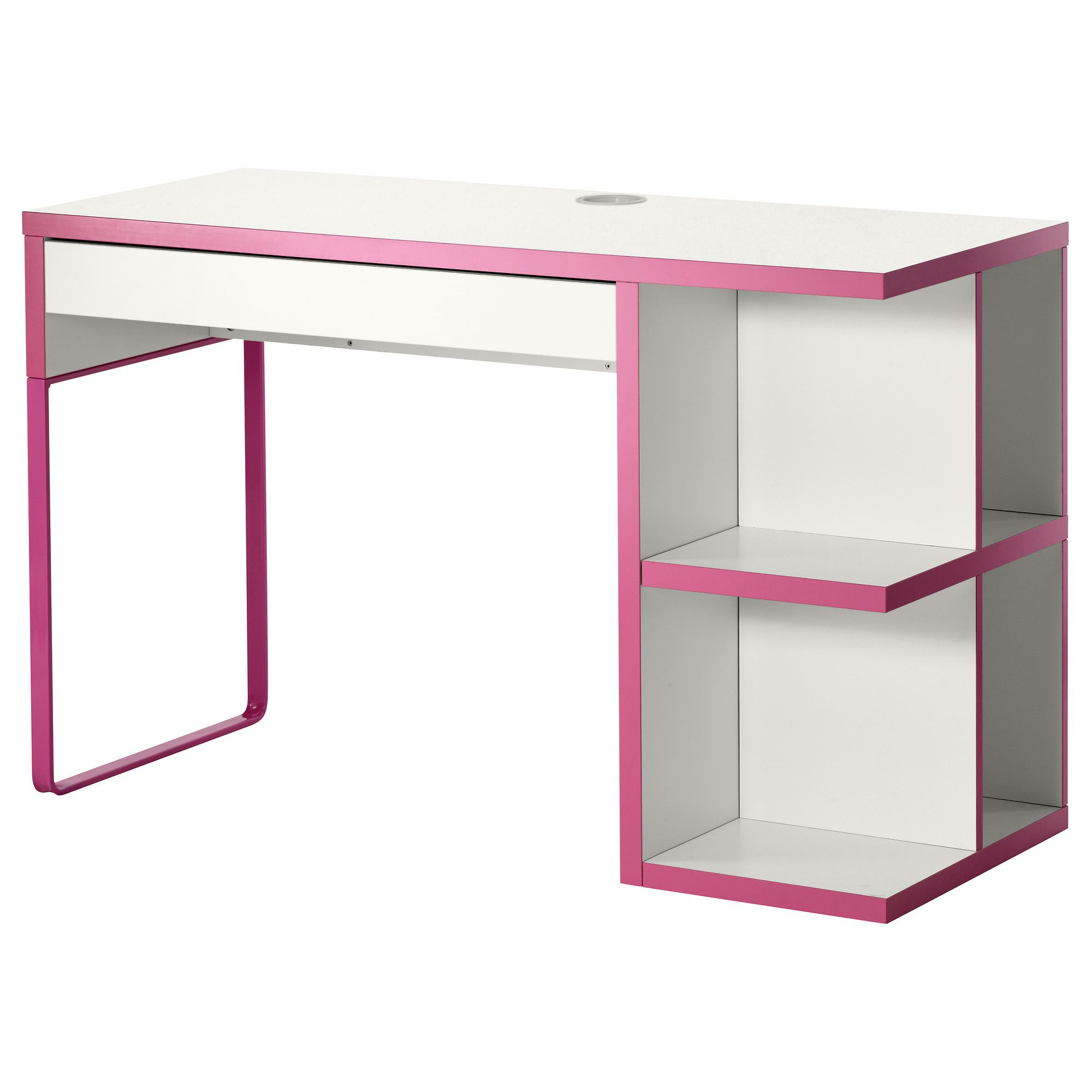 micke desk with integrated storage retail display white. Black Bedroom Furniture Sets. Home Design Ideas