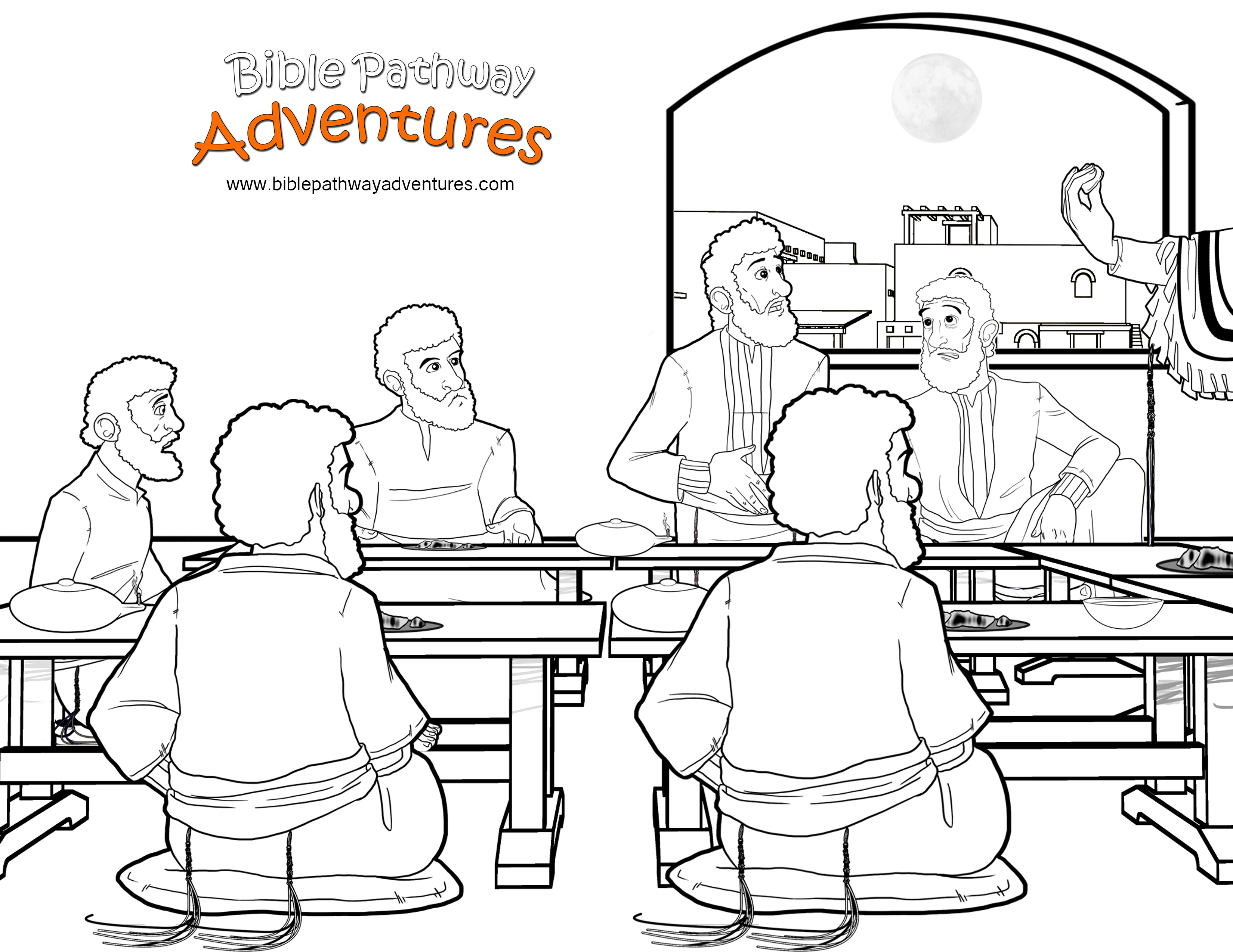 Free bible story coloring pages for children - Free Bible Activities For Kids