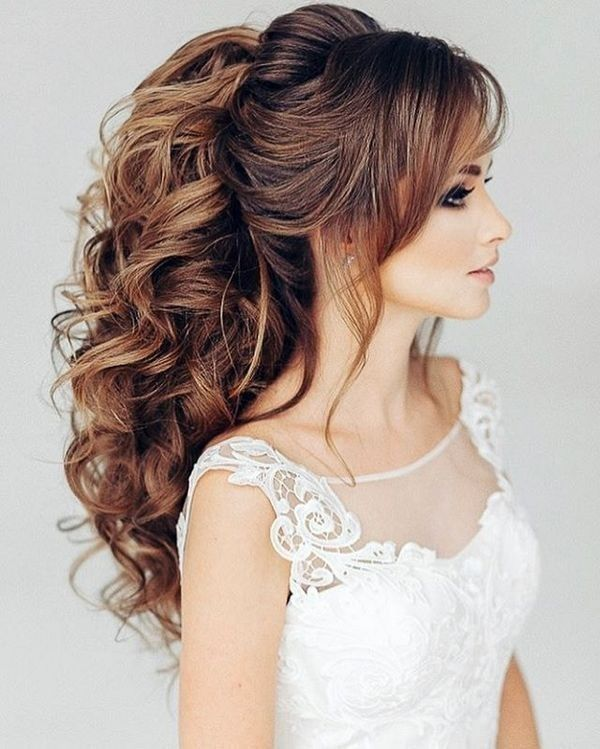 81 Beautiful Wedding Hairstyles For Elegant Brides In 2021 Pouted Com Hair Styles Long Hair Styles Wedding Hairstyles For Long Hair