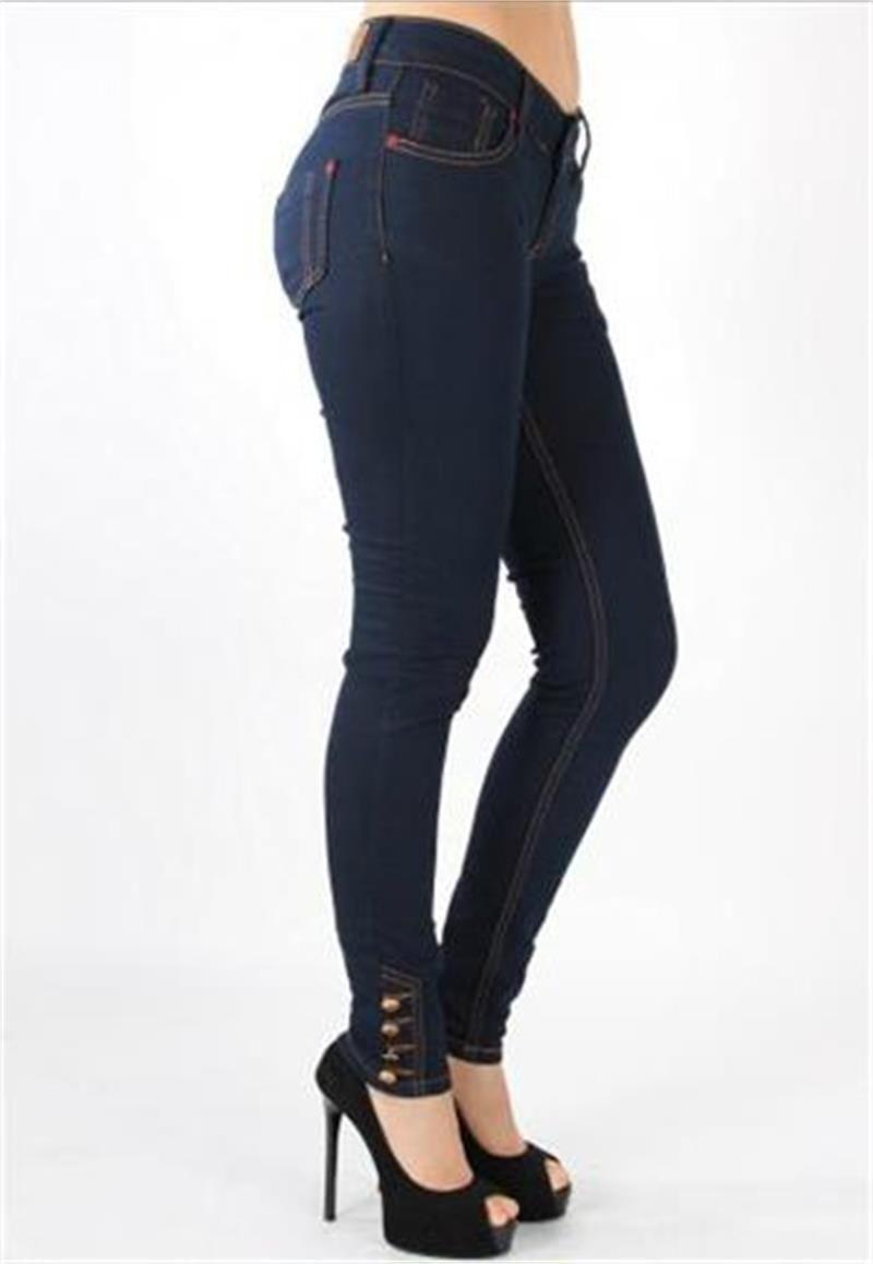 0f3691502eb79 Paçası Dört Dügmeli Jeans-Pantolon | Modelleri ve Uygun Fiyat Avantajıyla |  Modabenle