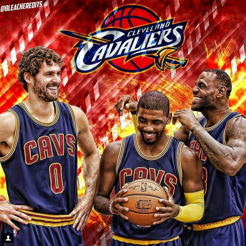 Kevin Love, Kyrie Irving and Lebron James Kevin love