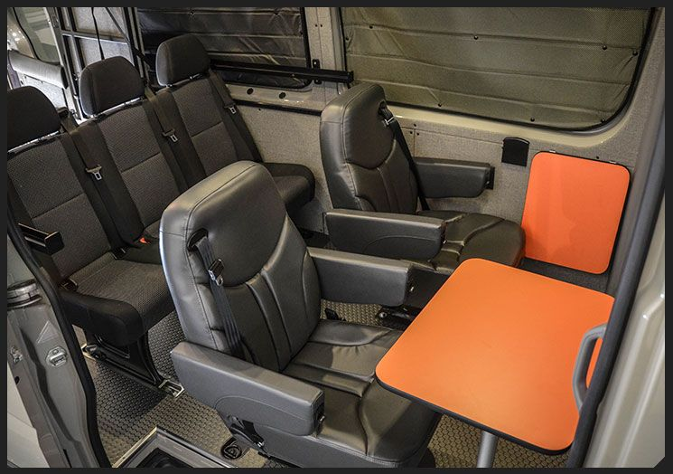Custom Sprinter Great Seating Arrangement Captains Chairs Need