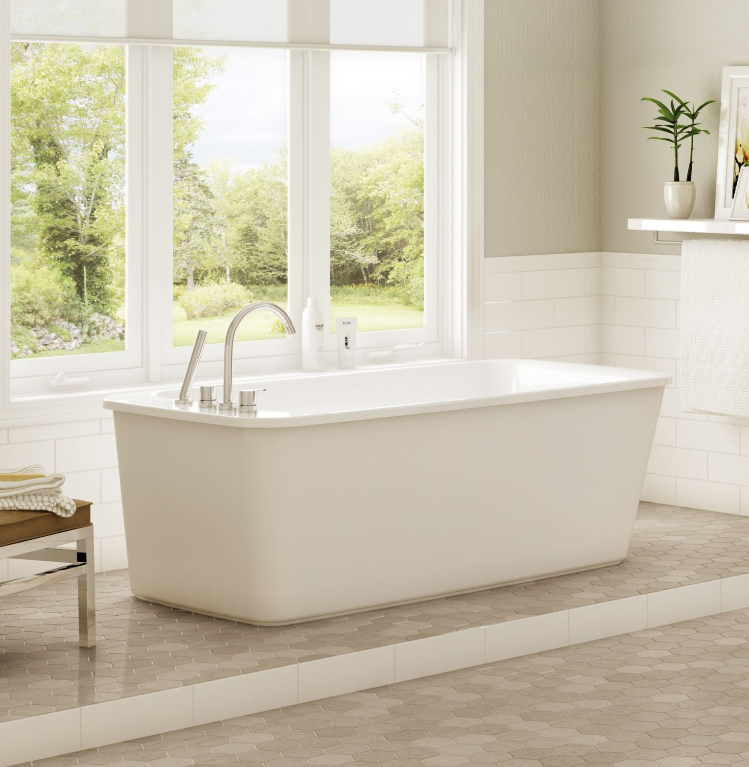 Large Yet Luxurious, The Maax® Lounge Freestanding Acrylic Bathtub Comes In  Four Different Colors So You Can Create A Chic Look That Suits Your  Bathroom ...