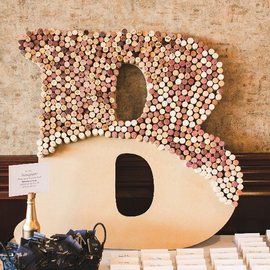 Cork Wedding Memory: The Perfect Monogram Wine Cork Decor For This Hubers
