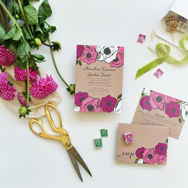 berry hued floral rustic wedding invites | Smitten on Paper