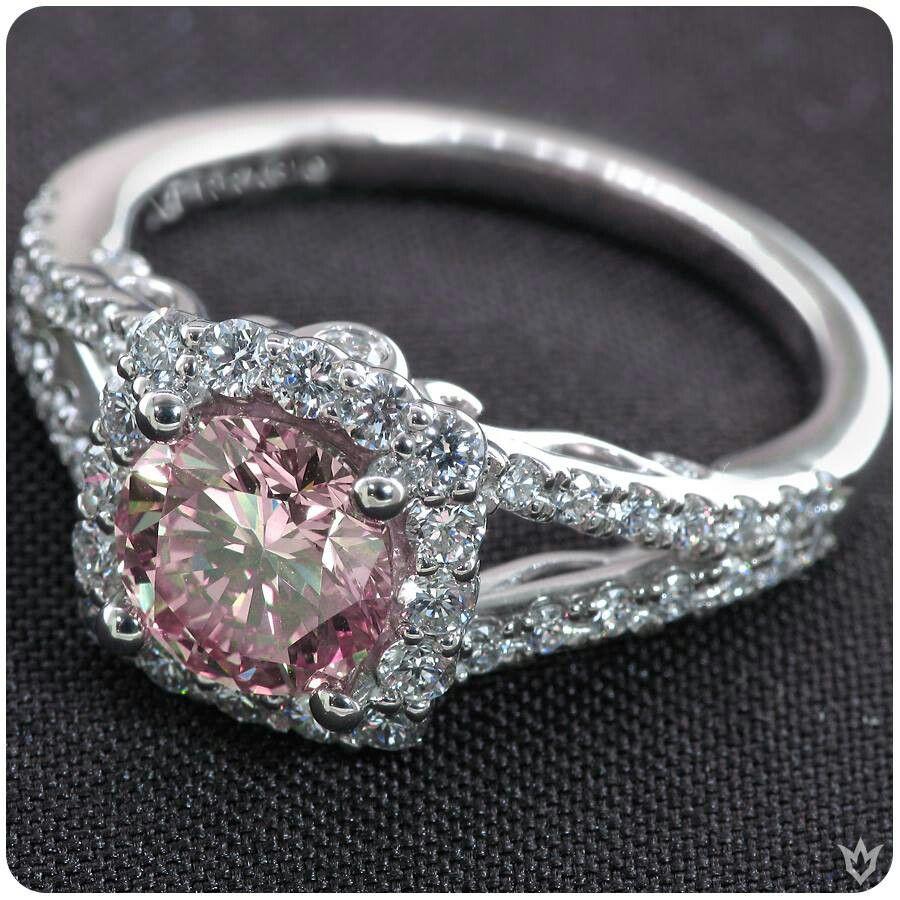 24++ Pink diamond wedding ring set information