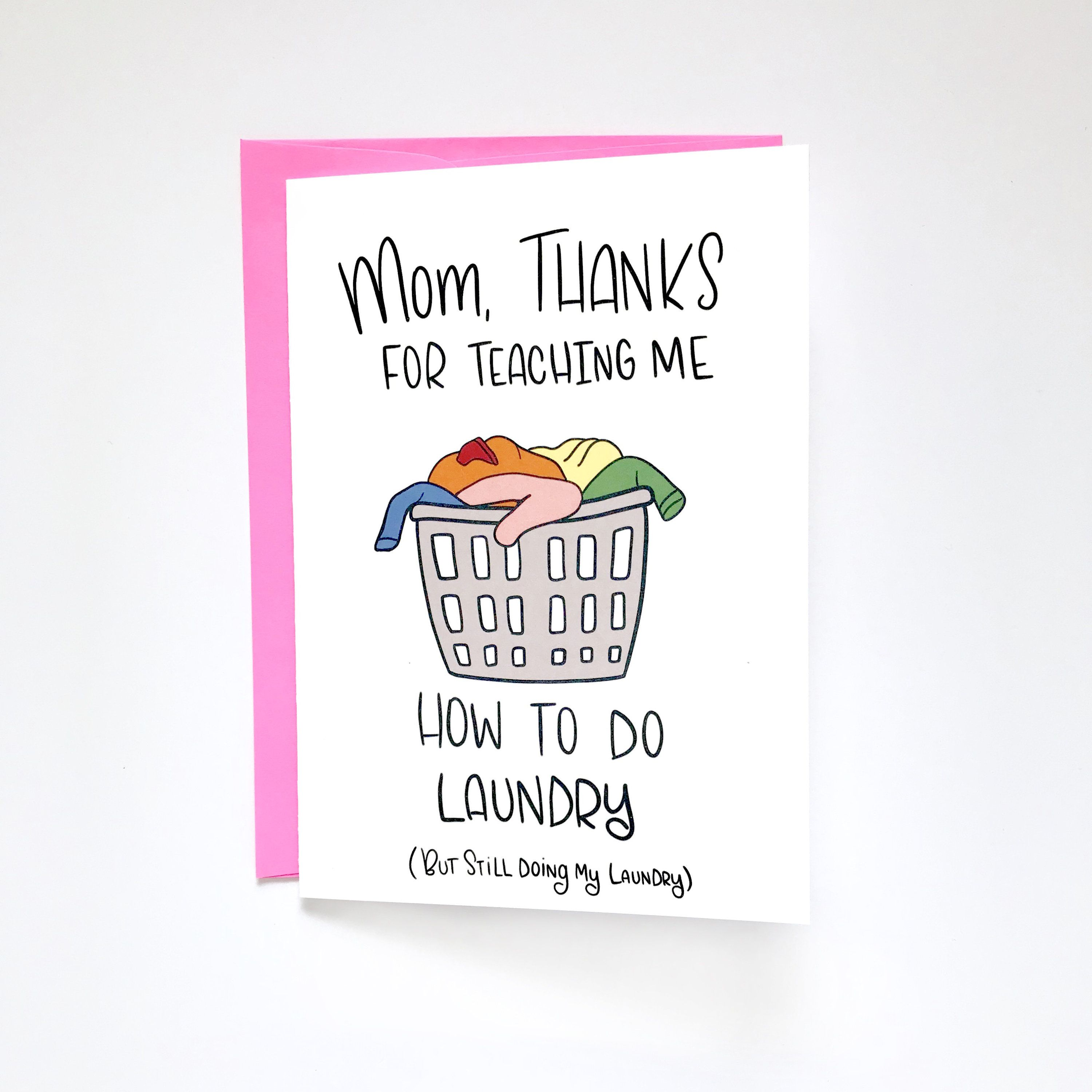 Funny Mothers Day Card, Card from Daughter by Siyo
